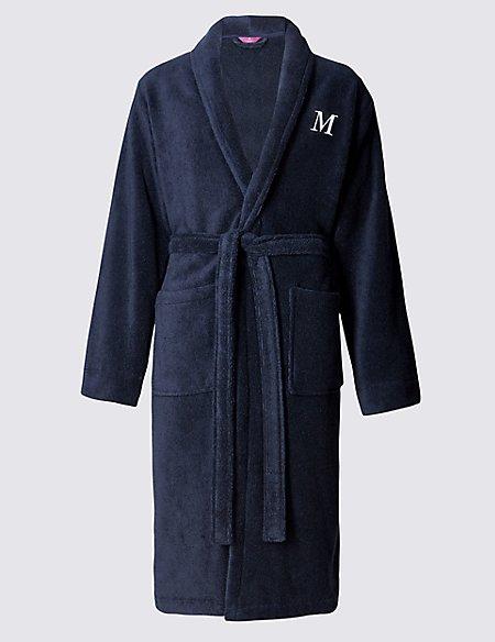Super Soft Cotton Personalised Alphabet M Gown