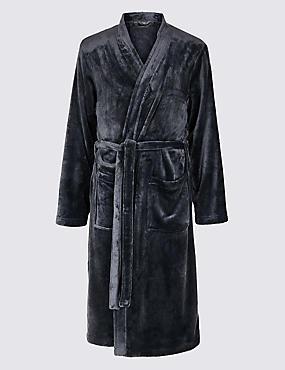Fleece Dressing Gown with Belt