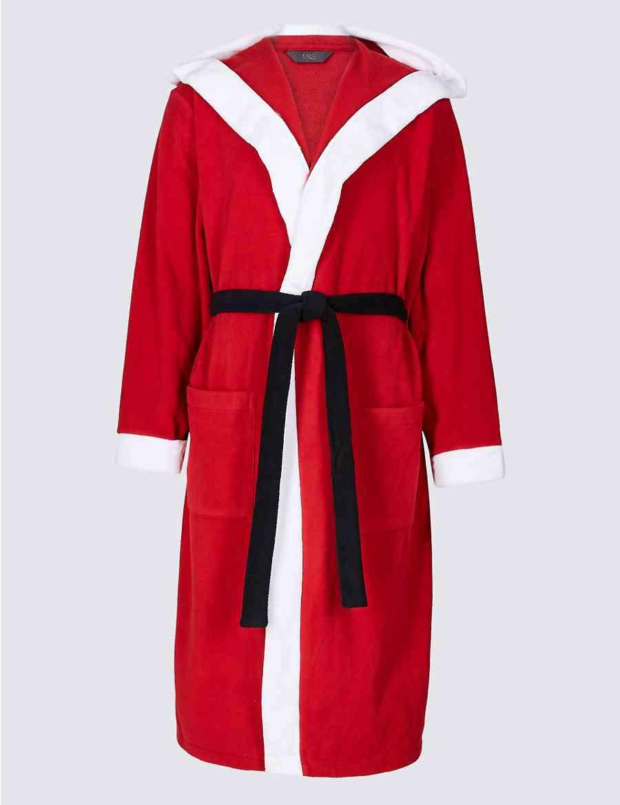 Santa Fleece Dressing Gown  7d89334bb