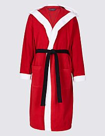 Santa Fleece Dressing Gown