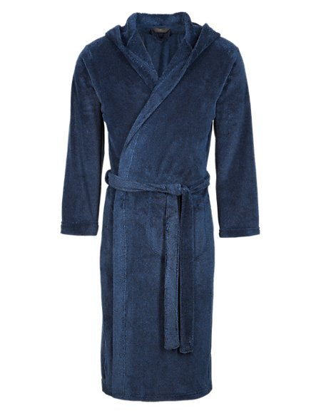 Premium Supersoft Hooded Fleece Dressing Gown with StayNEW™