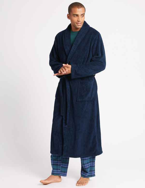 2in Longer Supersoft Fleece Dressing Gown 0d1f6b94c
