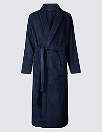 2in Longer Supersoft Fleece Dressing Gown