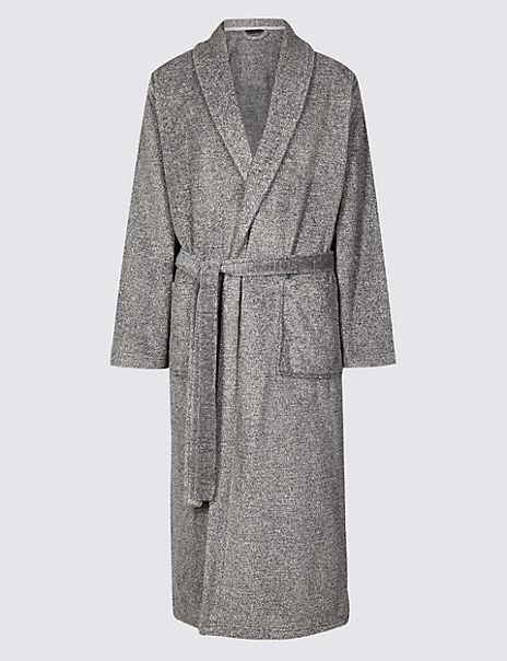 2in Longer Supersoft Fleece Dressing Gown
