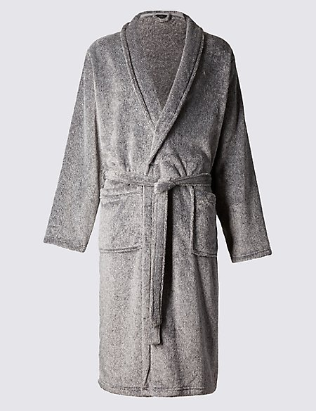 Supersoft Fleece Dressing Gown with Belt | M&S Collection | M&S