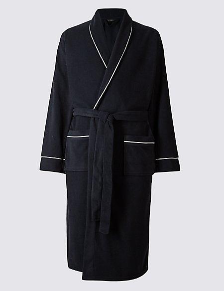 Shawl Neck Fleece Dressing Gown