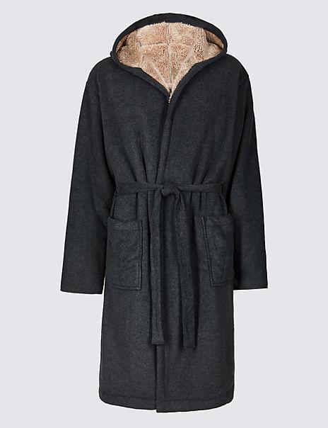 Bonded Fleece Dressing Gown