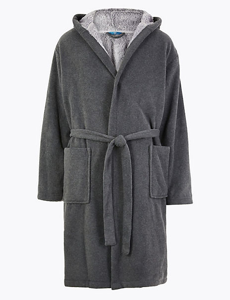 Supersoft Fleece Hooded Gown