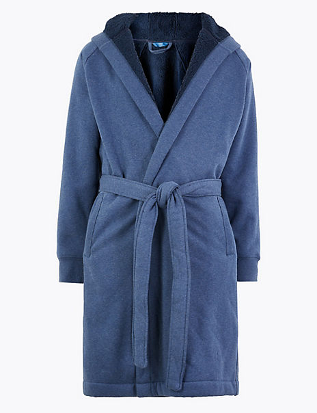 Supersoft Jersey Hooded Dressing Gown