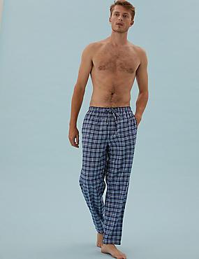 2 pack Brushed Cotton Pyjama Bottoms