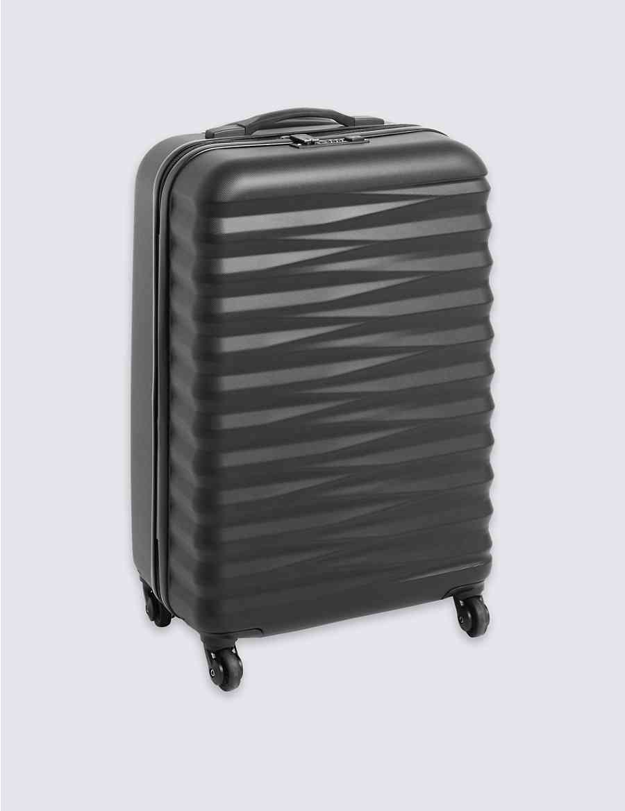3539c01fba51 Medium 4 Wheel Essential Hard Suitcase with Security Zip
