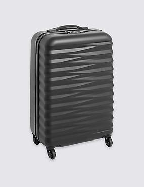 Medium 4 Wheel Essential Hard Suitcase with Security Zip