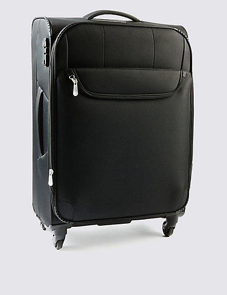 Medium 4 Wheel Super Lightweight Suitcase