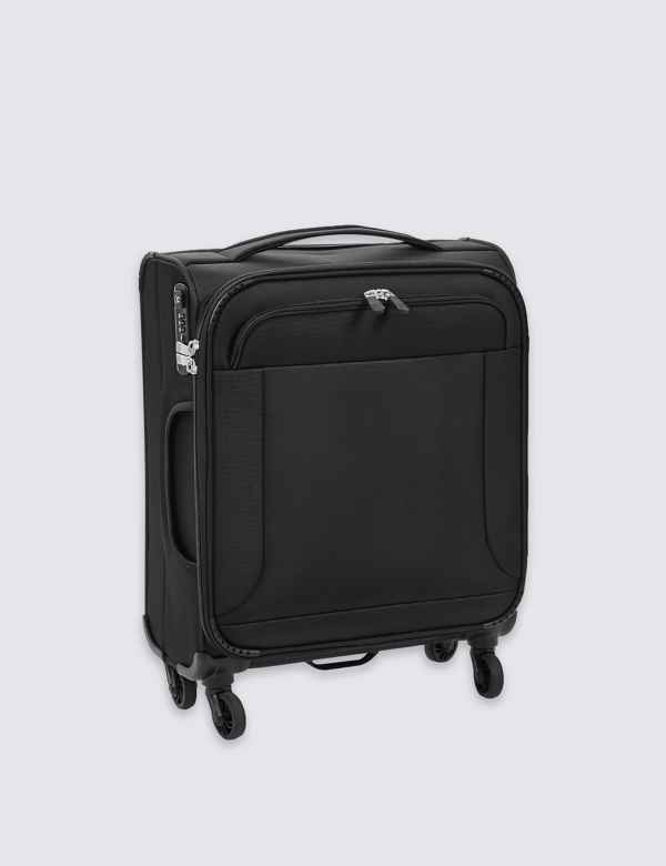 Cabin 4 Wheel Ultralight Soft Suitcase with Security Zip 67c568e30a9fa