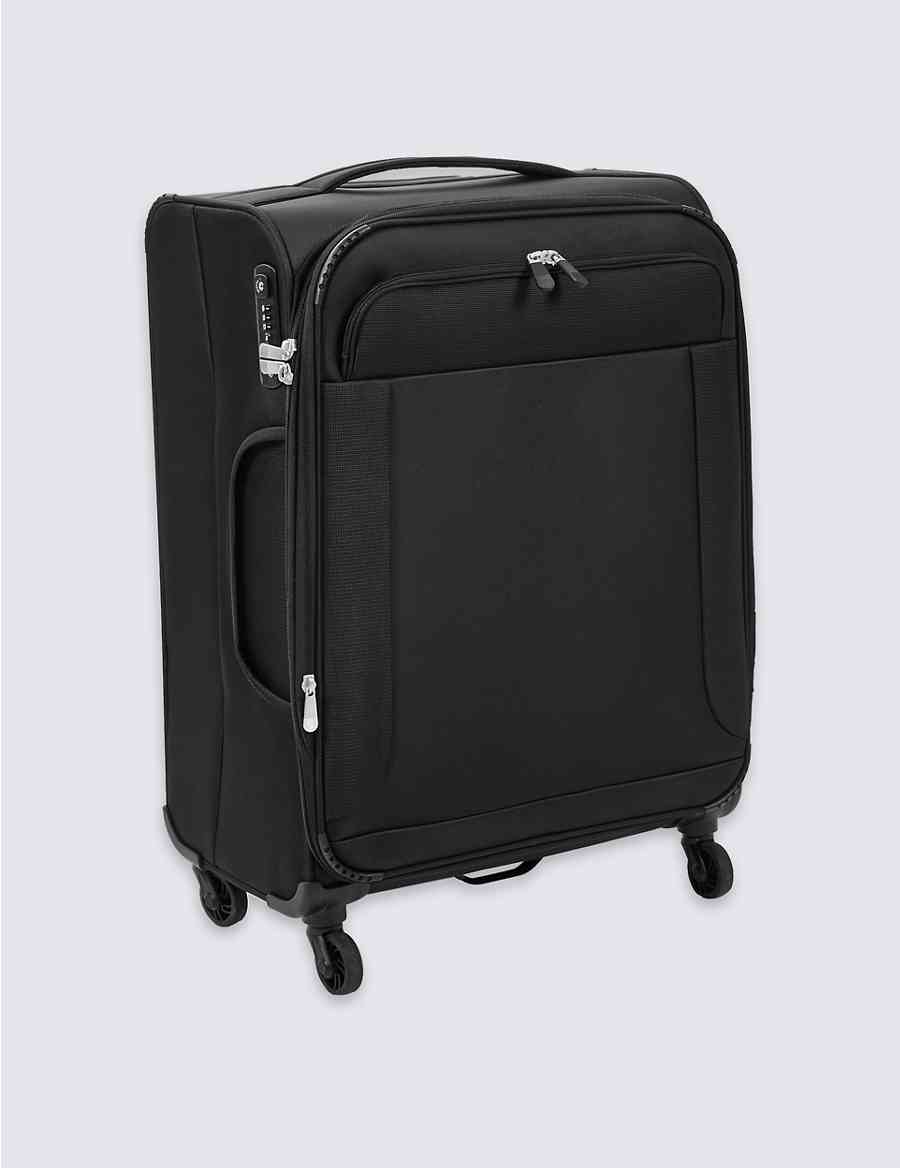 c3e32eef144d Medium 4 Wheel Ultralight Soft Suitcase with Security Zip