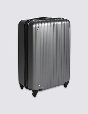 Medium 4 Wheel Hard Suitcase with Security Zip