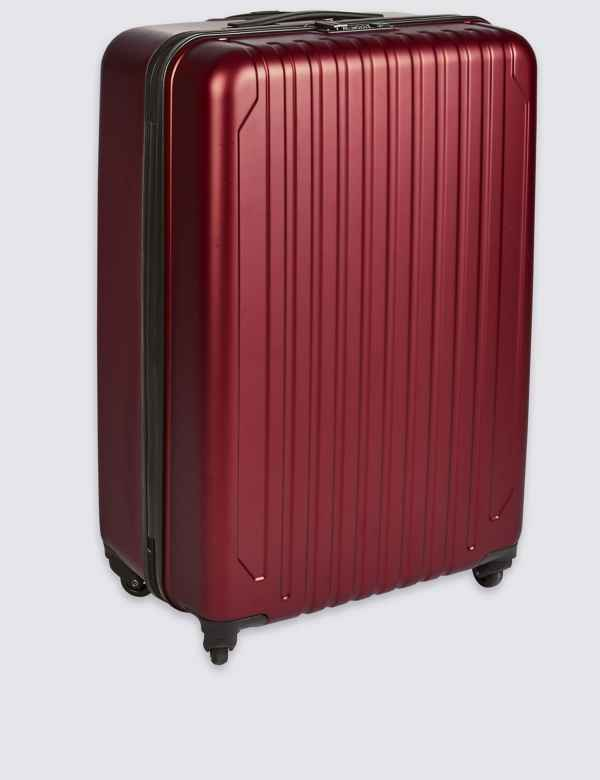 266693f935de Large 4 Wheel Hard Suitcase with Security Zip