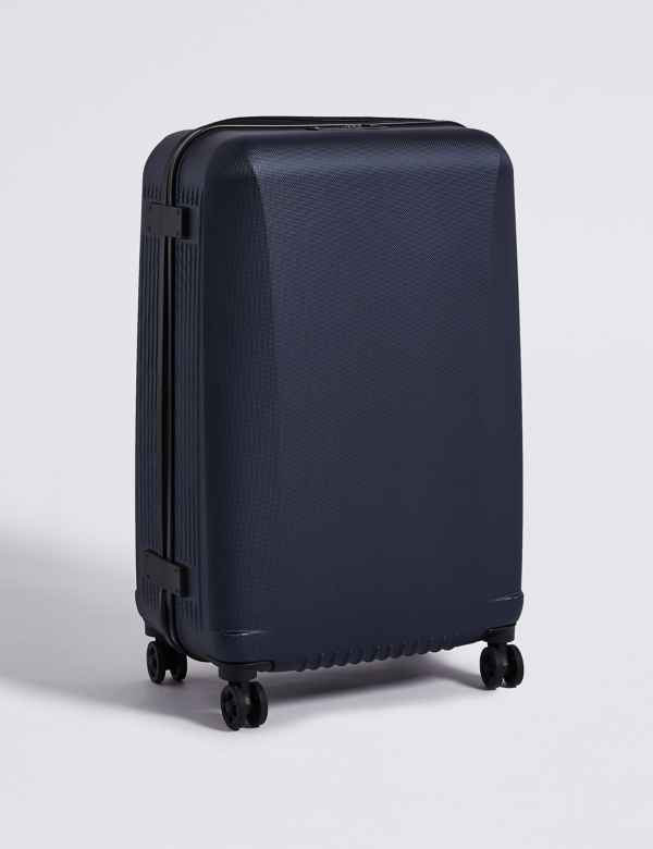 b1574636555 Medium 4 Wheel Ultralight Hard Suitcase with Security Zip
