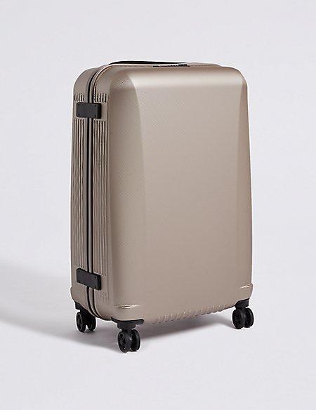Medium 4 Wheel Ultralight Hard Suitcase with Security Zip