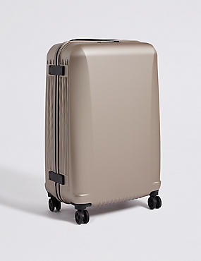 Medium 4 Wheel Ultralight Hard Suitcase with Security Zip