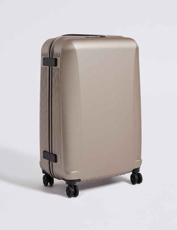 Medium 4 Wheel Ultralight Hard Suitcase with Security Zip c973afd7fe21b
