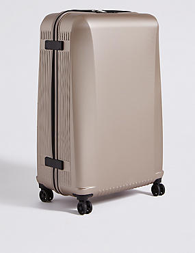 Large 4 Wheel Ultralight Hard Suitcase with Security Zip