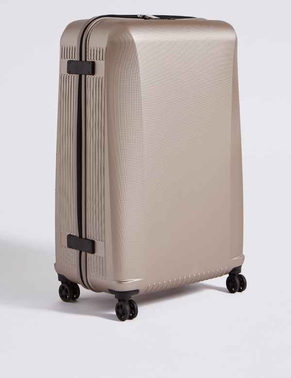 Large 4 Wheel Ultralight Hard Suitcase with Security Zip 2b6f6733df