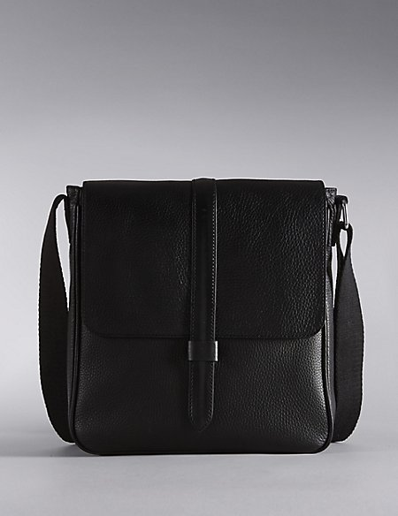 Leather Panelled Manbag