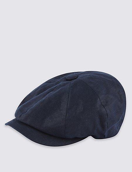 Pure Linen Baker Boy Cap