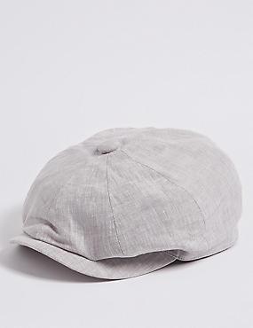 Pure Linen Baker Boy Hat