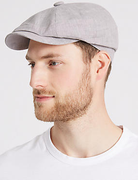 Pure Linen Baker Boy Hat