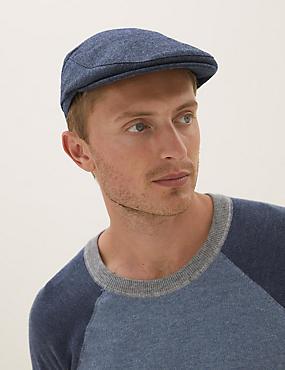 Wool Textured Flat Cap