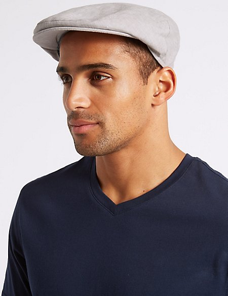 Pure Linen Flat Cap