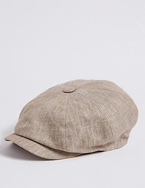 Pure Linen Bakerboy Hat