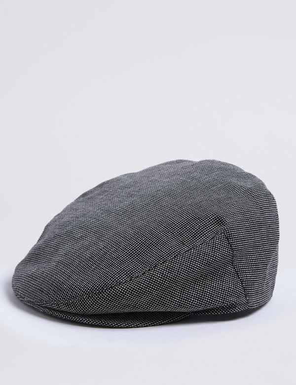 Cotton Blend Flat Cap 1e4f54b3eed6