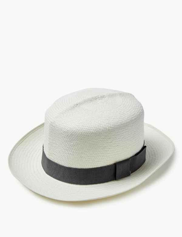 9998bd1cc Mens Summer Hats | Trilby Straw Hats & Flat Caps For Men | M&S