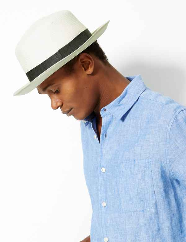 4dd53192325dd Mens Summer Hats | Trilby Straw Hats & Flat Caps For Men | M&S IE
