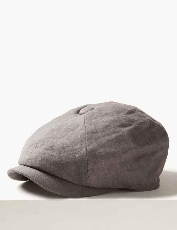 19acc09363b Pure Linen Baker Boy Hat