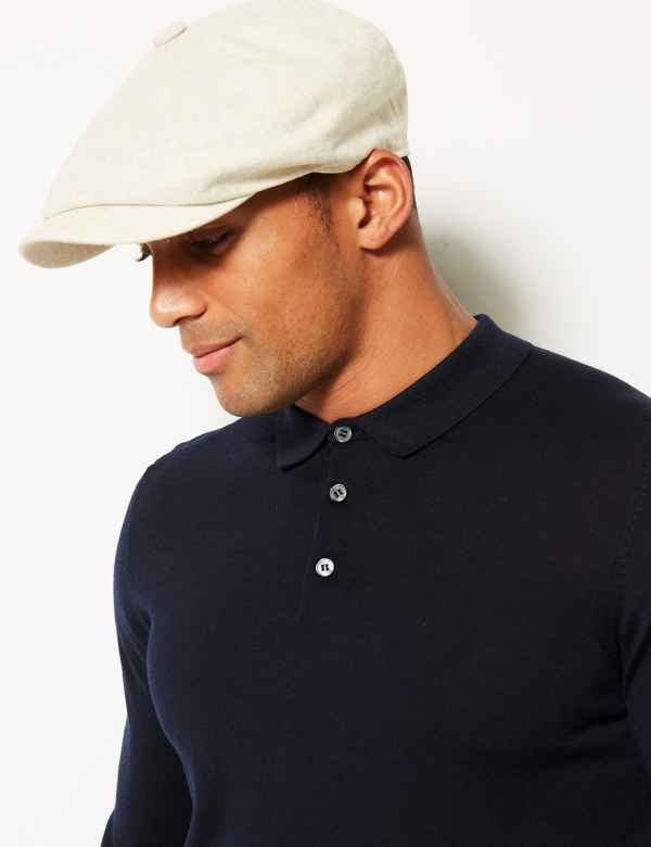 Linen Rich Textured Baker Boy Hat 7b167d63f02d