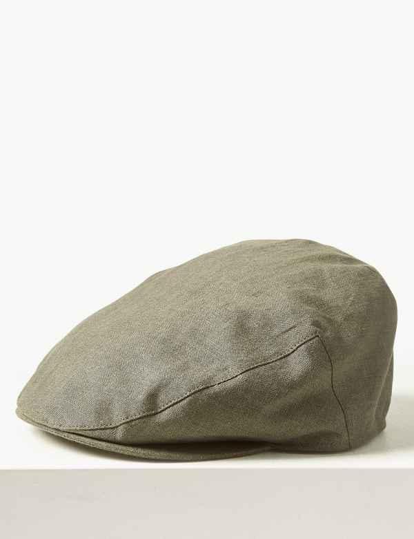 f1e8412f230 Pure Linen Flat Cap