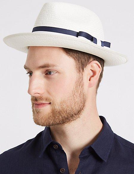 Stripe Band Panama Hat