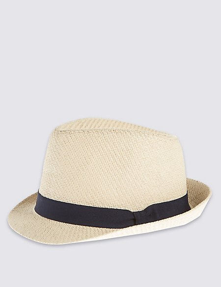 Double Weave Textured Trilby Hat