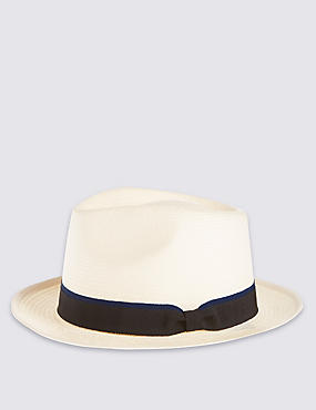 Tipped Band Trilby Hat