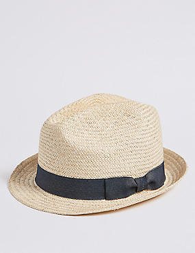 Hand Woven Trilby Hat