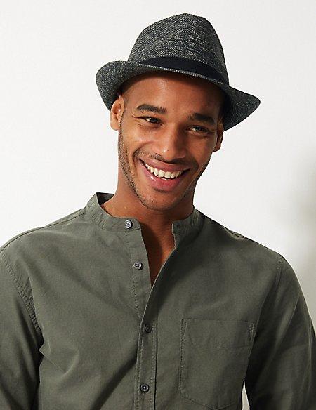 Textured Trilby Hat
