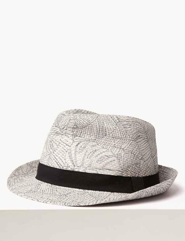 0da3974c27cbd8 Printed Trilby Hat