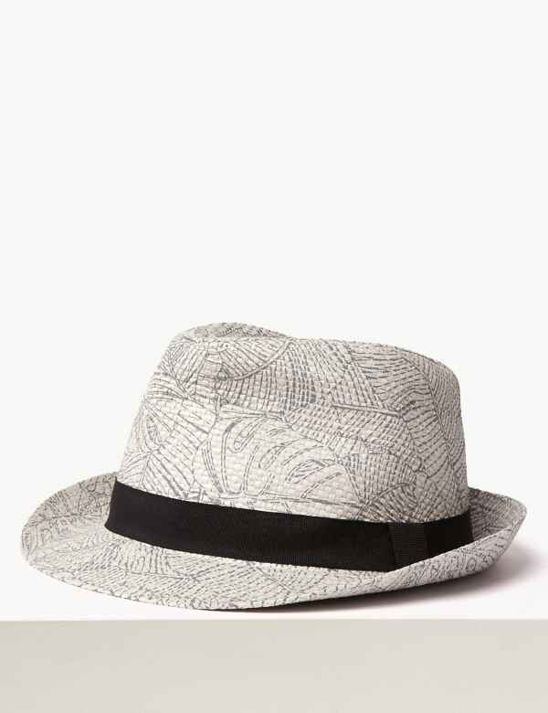 f4109664c8abdb Printed Trilby Hat