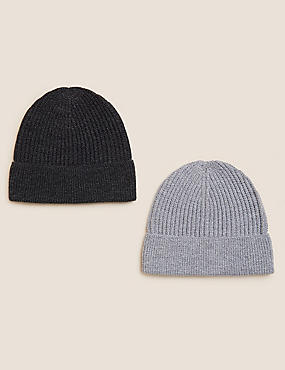 2 Pack Beanie Hats with Thermowarmth™