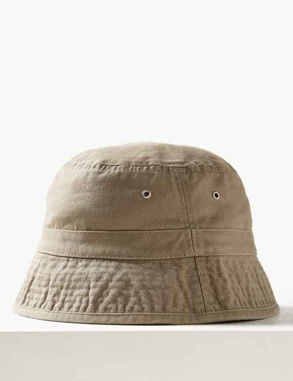 748a5fdc Cotton | Mens Summer Hats | Trilby Straw Hats & Flat Caps For Men | M&S
