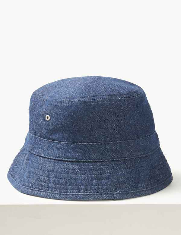 9eb2abf0e04 Pure Cotton Bucket Hat. New. M S Collection